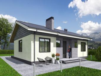 Одноэтажного дома для узкого участка