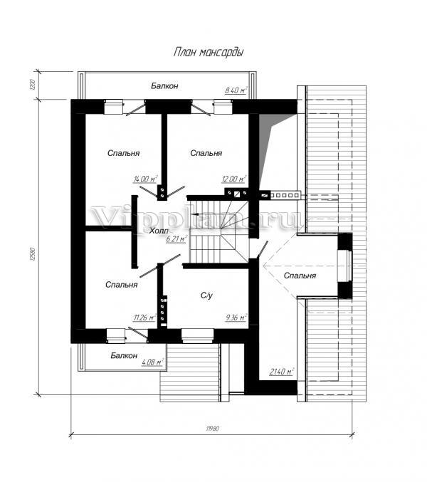 Одноэтажного жилого дома с подвалом и