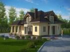 Проект просторного одноэтажного дома с мансардой