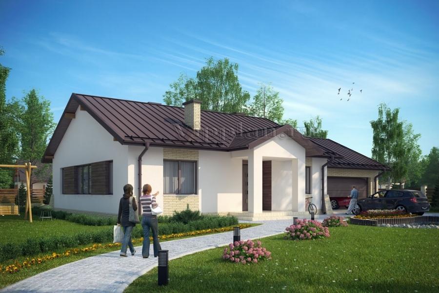 Проект уютного одноэтажного дома с
